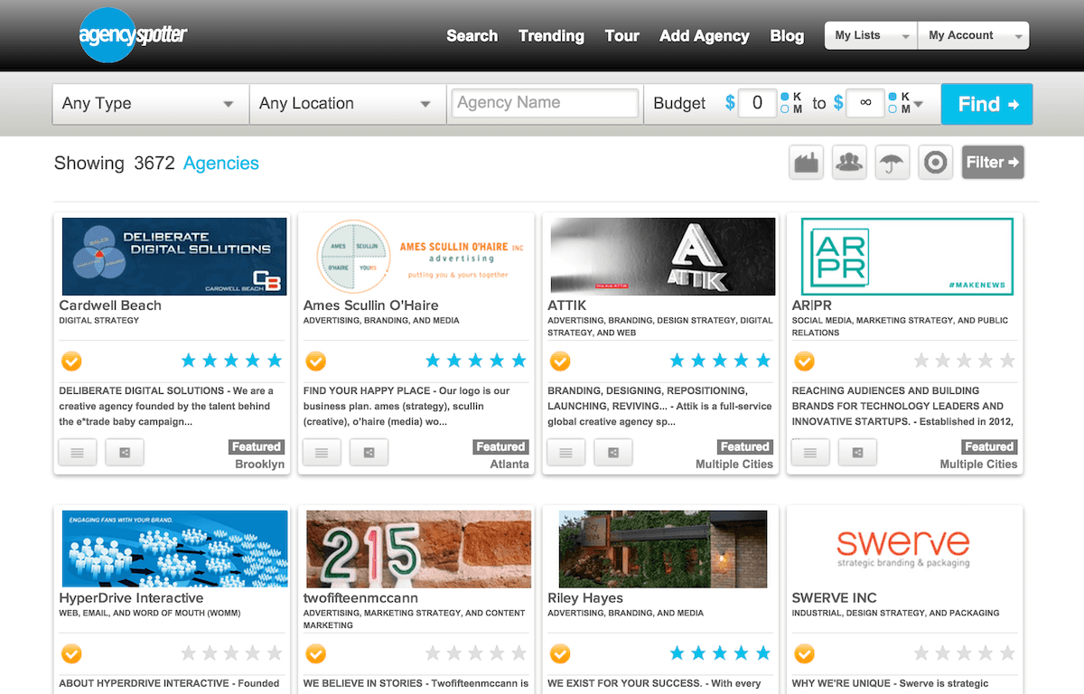 Search User Experience agencies with client reviews and more