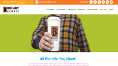 Biggby Coffee Website Redesign