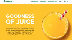 Tropicana Website & Packaging Design