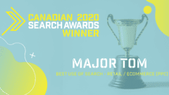 Major Tom Wins 2020 Canadian Search Award
