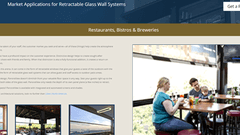 Microsite for Retractable Windows and Doors