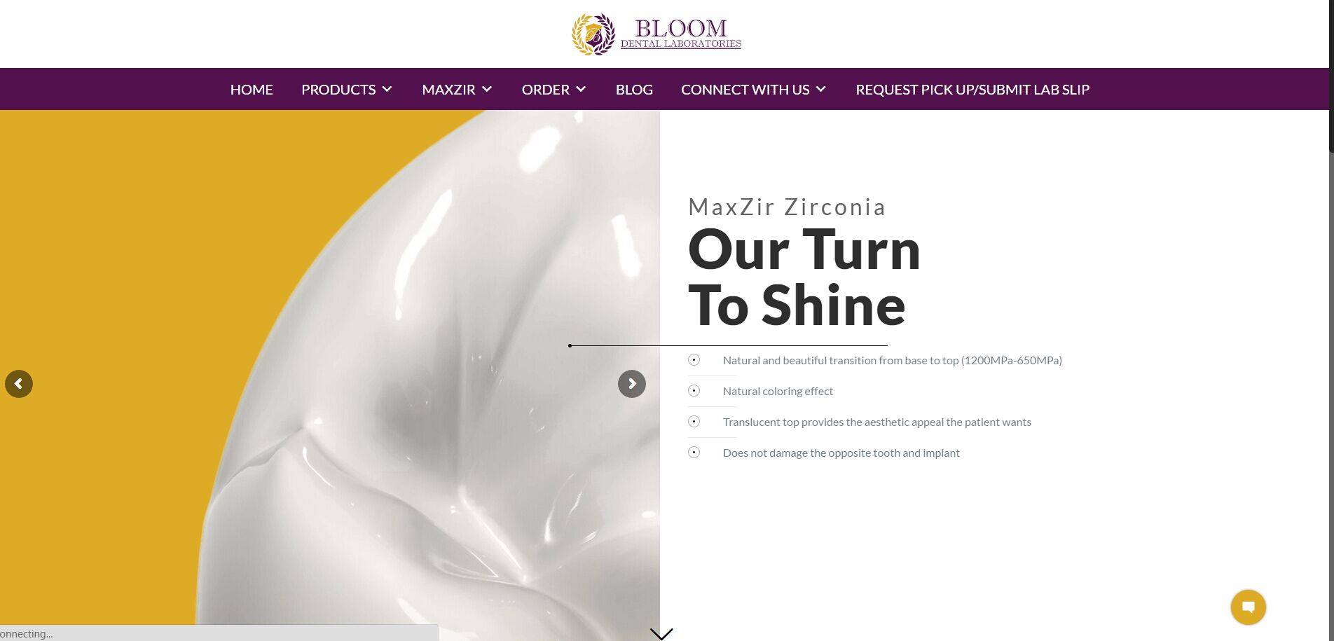 Bloom homepage